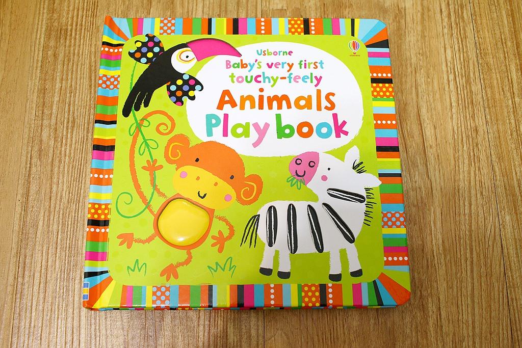 寶寶的第一本觸摸遊戲書USBORNE Animals Play book(Baby's very first touchy-feely)