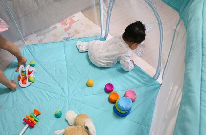 【嬰兒圍欄推薦】HEXA海星遊戲圍欄尊爵版 一個寶寶絕對無法越獄又能秒收攜帶出門的寶寶圍欄