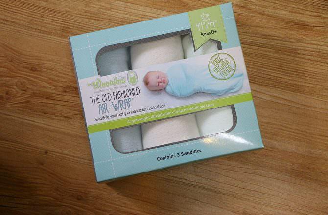 【嬰兒包巾推薦】Woombie 100%有機綿多用途包巾 柔軟、透氣、輕薄、彈性,可包鬆包緊適應各種個性的寶寶