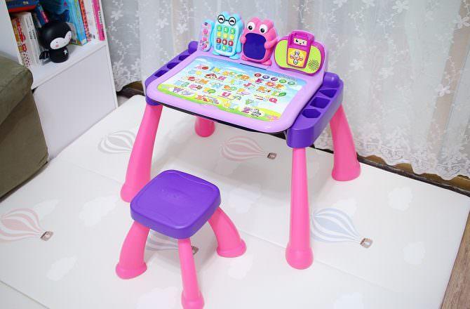 Vtech 3合1多功能互動學習點讀桌椅組 可互動學習英文、數字、當畫板,連小寶寶都愛的學習桌