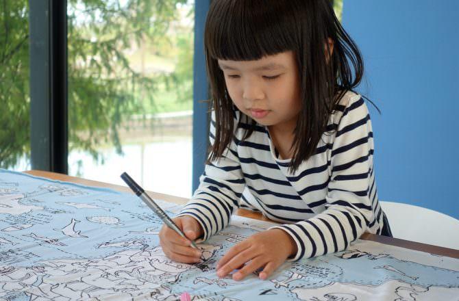 【水洗畫筆推薦】英國eatsleepdoodle水洗畫筆畫布 孩子盡情揮灑的好畫具,可清洗可重複使用
