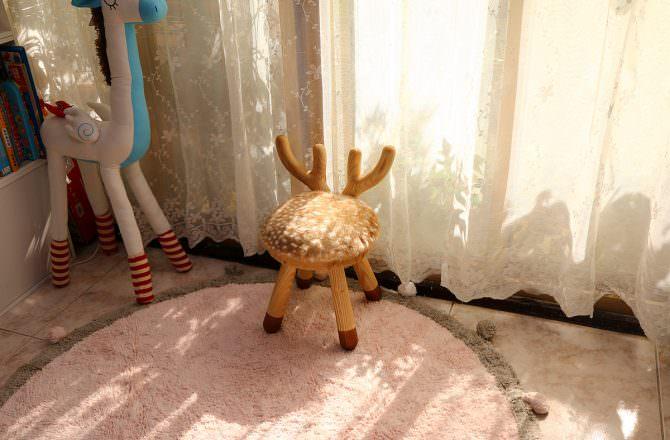 日本Putia兒童動物造型木製椅,質感好的實木兒童椅~