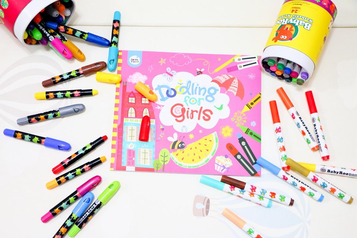 西班牙Joan Miro 美樂水畫冊、靜電貼紙、可水洗絲滑蠟筆、彩色筆、刮畫、著畫冊