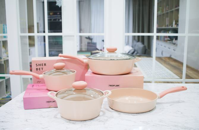【團購】NEOFLAM蜜桃雪諾美型鍋具 超美的粉紅色系鍋具 擁有料理好心情